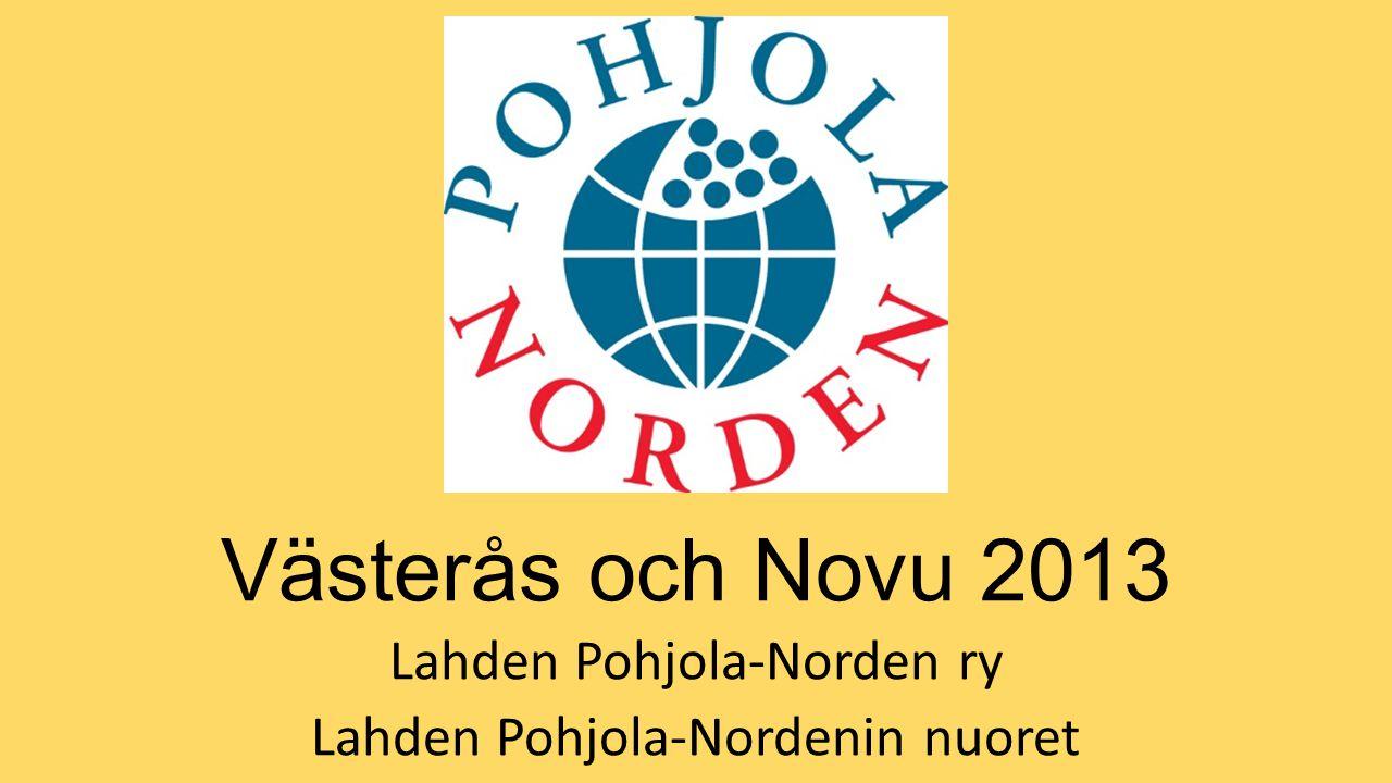 Västerås och Novu 2013 Lahden Pohjola-Norden ry Lahden Pohjola-Nordenin nuoret
