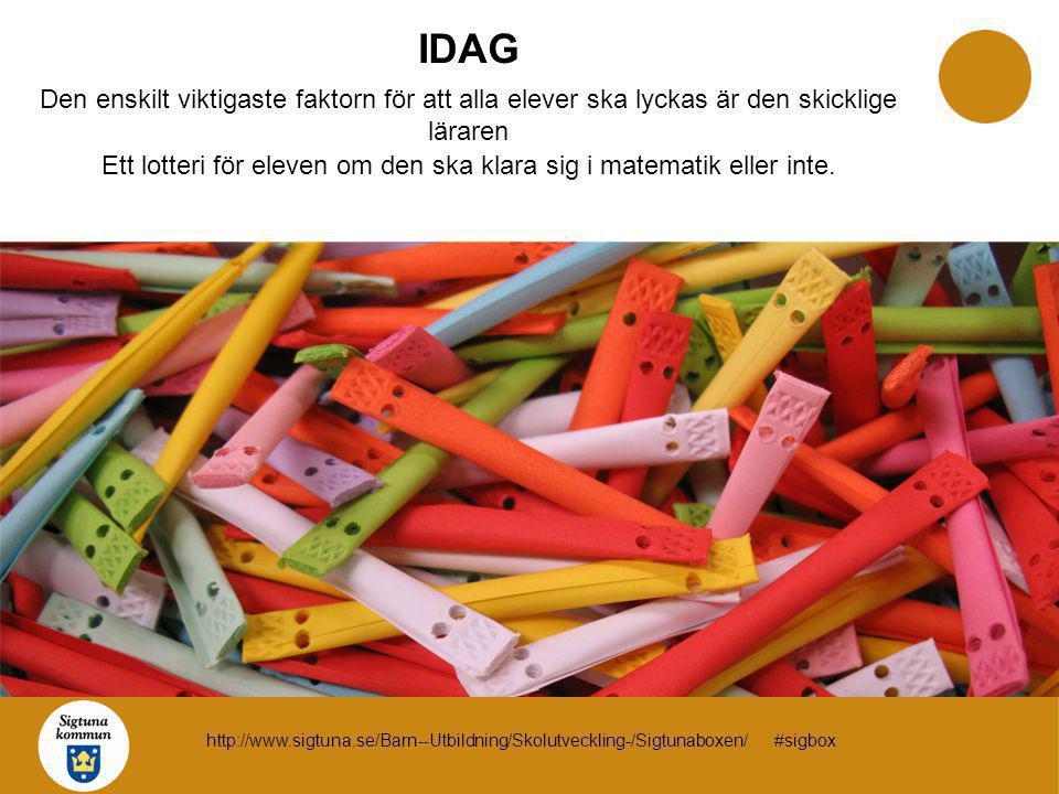 IDAG Den enskilt viktigaste faktorn för att alla elever ska lyckas är den skicklige läraren Ett lotteri för eleven om den ska klara sig i matematik el