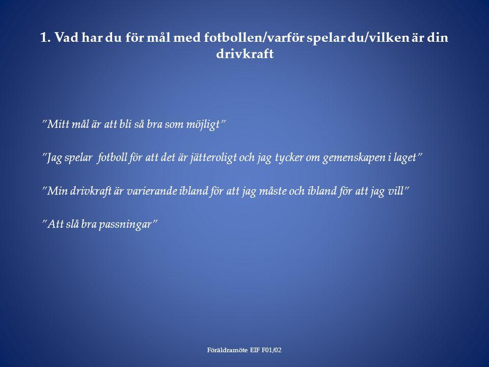 Frågor från Gunilla Eskils värdegrund Eskilscupen 2014 Ledarnas ansvar Separatfråga för F02 Ev.