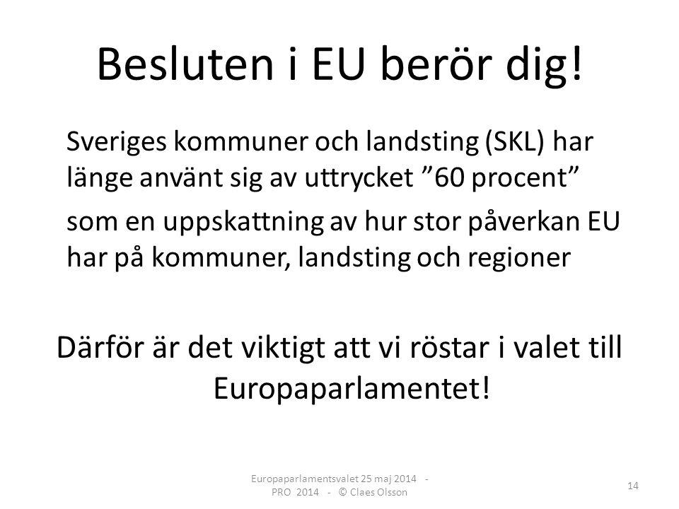 Besluten i EU berör dig.