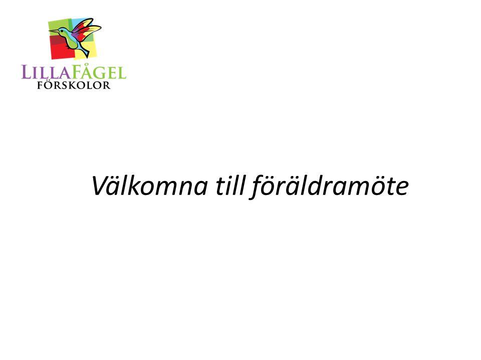 Dagordning: Information av Linnea Presentation av pedagogerna på Röd Presentation av avdelningarna, Duvan och Höken Fikapaus Viktig information om nya regler vad gäller avgifter och kö.