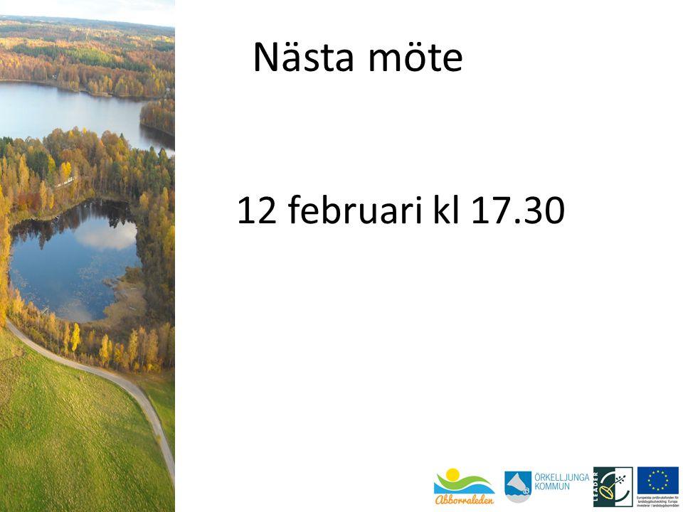 Nästa möte 12 februari kl 17.30