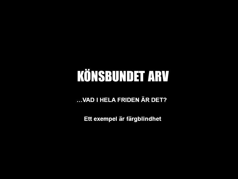 KÖNSBUNDET ARV …VAD I HELA FRIDEN ÄR DET.
