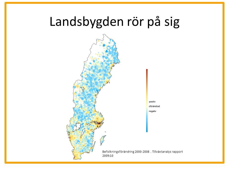 Landsbygden rör på sig Befolkningsförändring 2000-2008. Tillväxtanalys rapport 2009:10