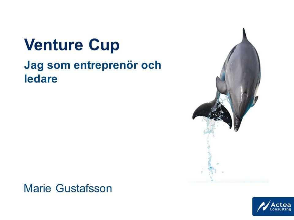 Venture Cup Marie Gustafsson Jag som entreprenör och ledare