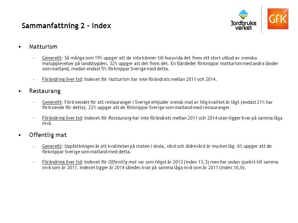 Segmentering Källa: VisitSweden/GfK 2014.