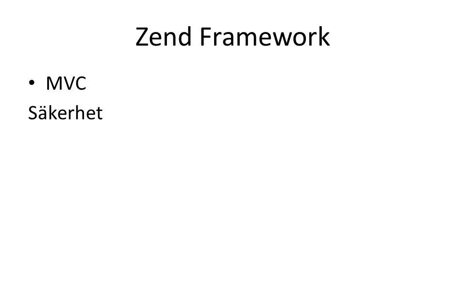 Zend Framework MVC Säkerhet