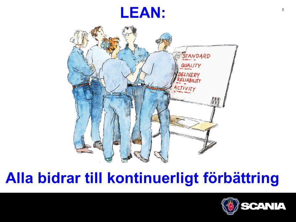 5 LEAN: Alla bidrar till kontinuerligt förbättring