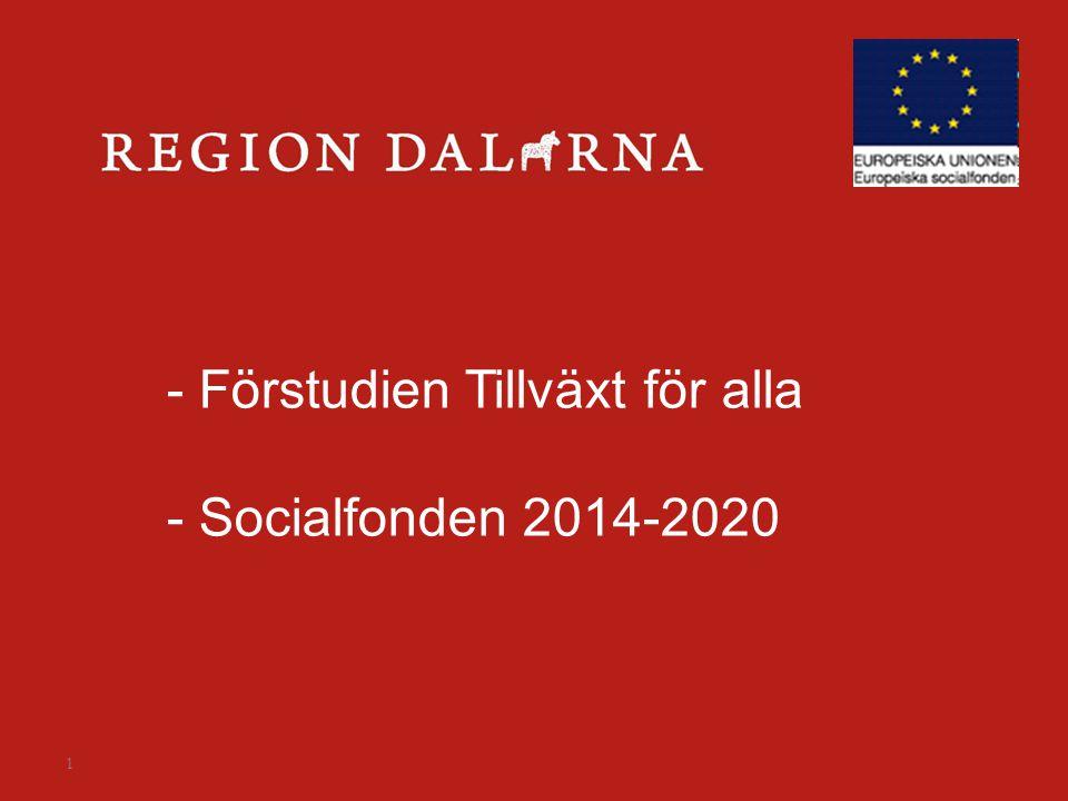 1 - Förstudien Tillväxt för alla - Socialfonden 2014-2020