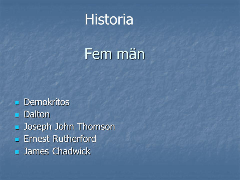Demokritos 400-t f.kr. 400-t f.kr. Odelbar Odelbar Dalton 1700-t 1700-t Massiva kulor Massiva kulor