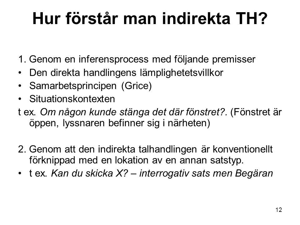 Hur förstår man indirekta TH.1.