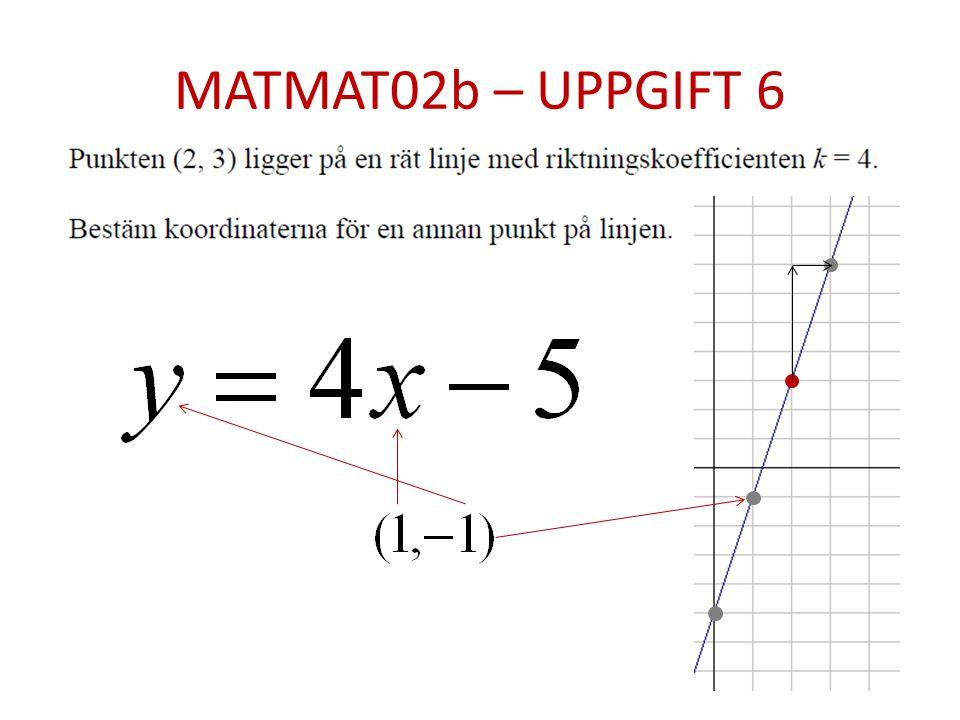 MATMAT02b – UPPGIFT 6