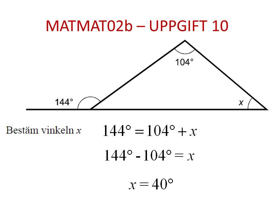 MATMAT02b – UPPGIFT 10