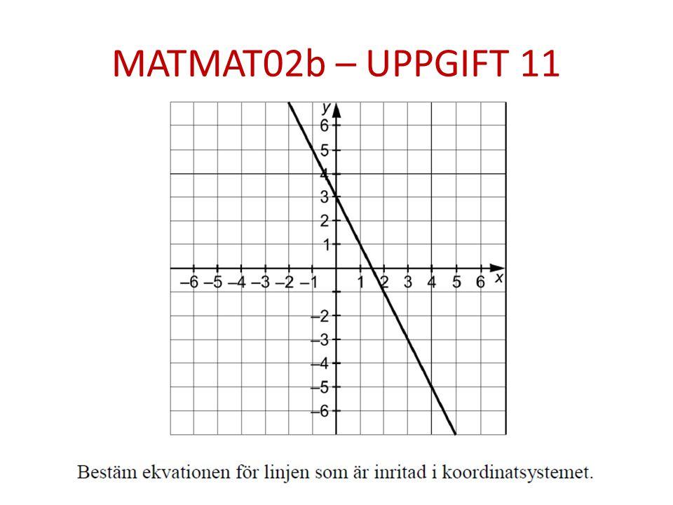 MATMAT02b – UPPGIFT 11