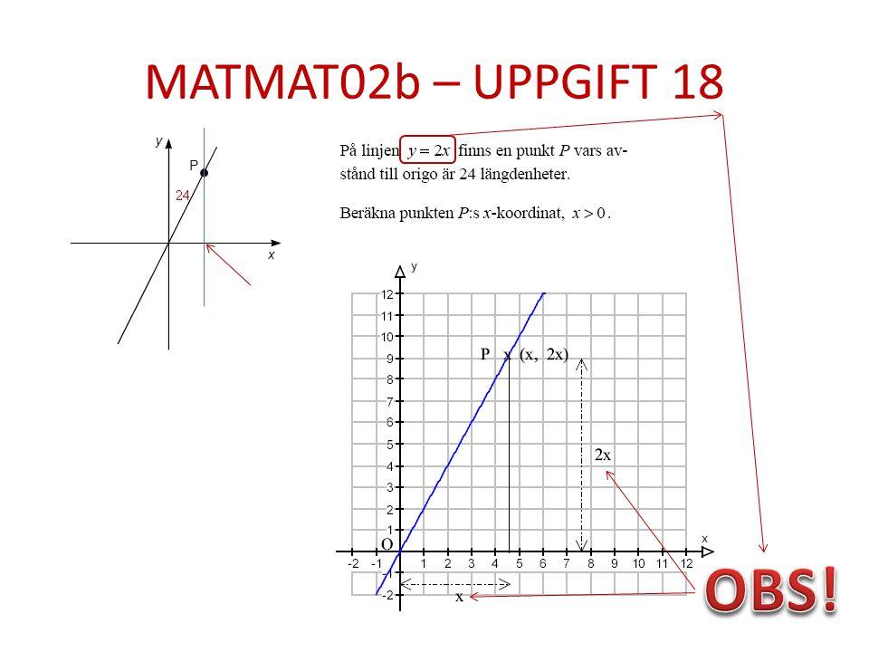 MATMAT02b – UPPGIFT 18