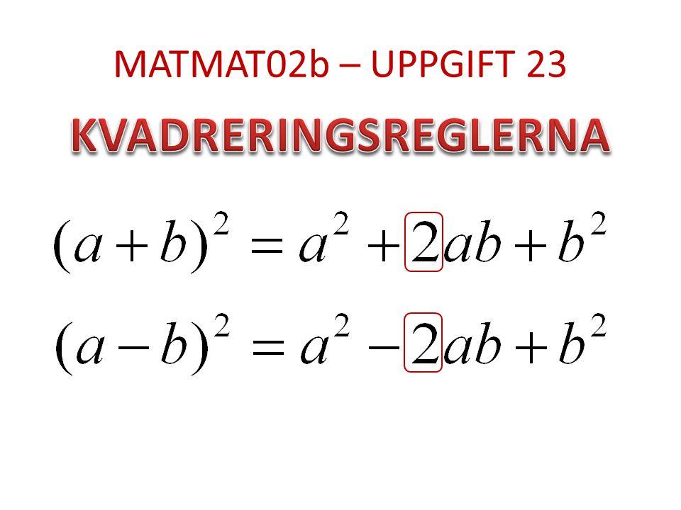 MATMAT02b – UPPGIFT 23