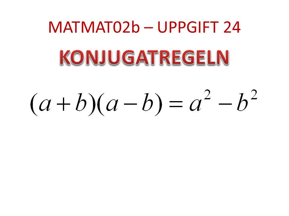 MATMAT02b – UPPGIFT 24
