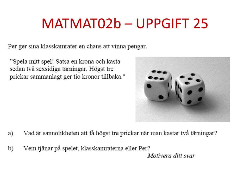 MATMAT02b – UPPGIFT 25