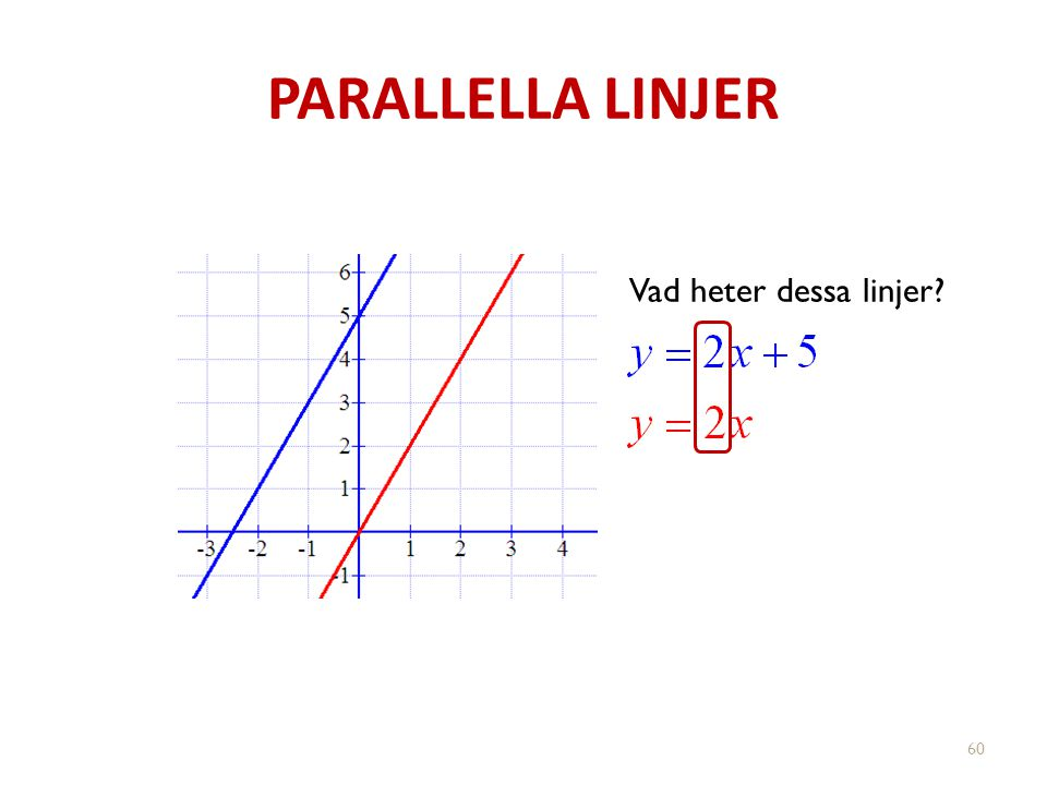 PARALLELLA LINJER 60 Vad heter dessa linjer?