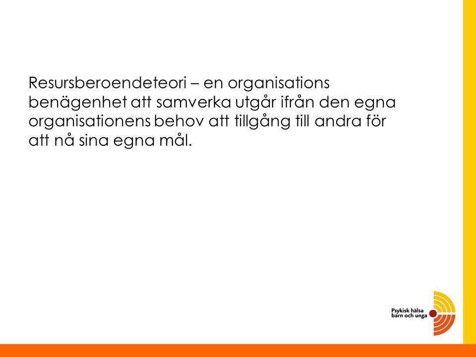 Nära och ingående samverkan ger avkall på den egna organisationens handlingsfrihet