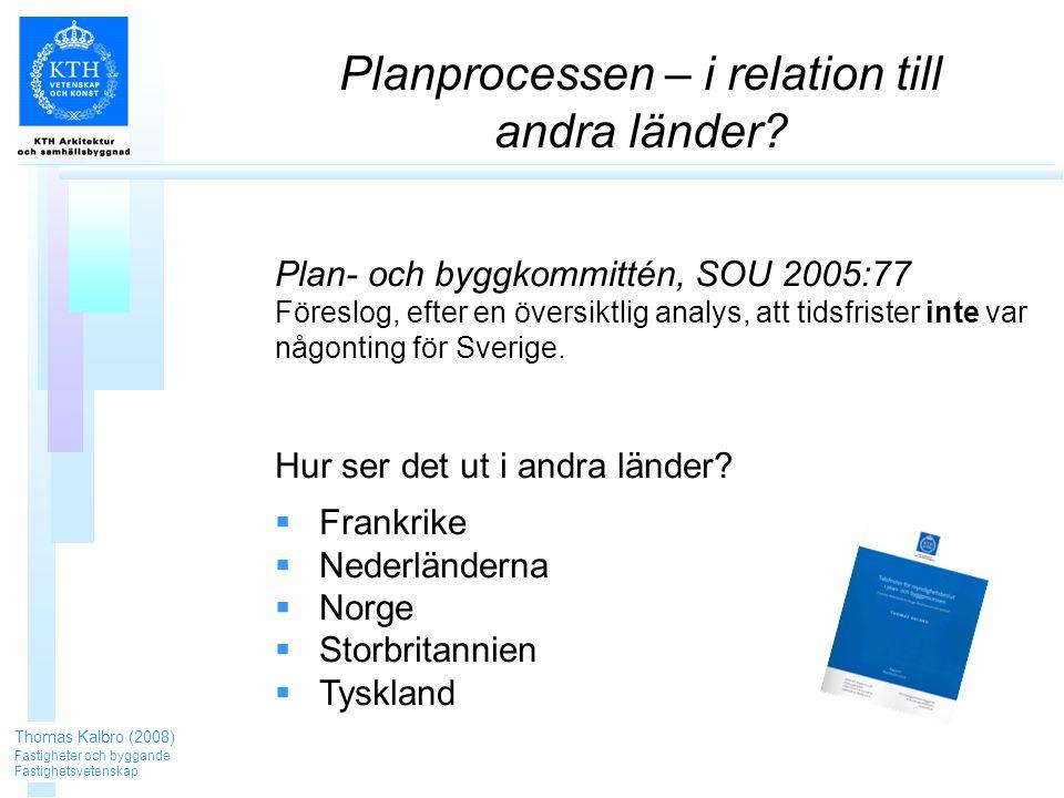 Planprocessen – i relation till andra länder.