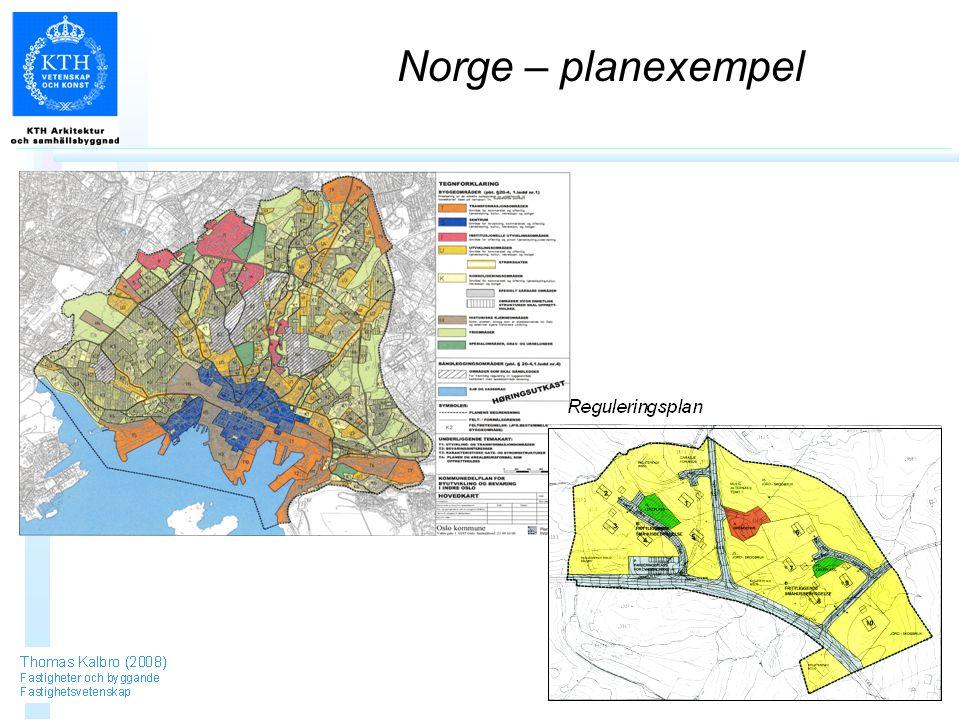 Norge – planexempel