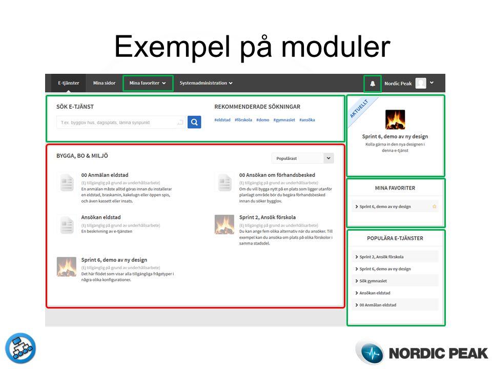 Exempel på moduler
