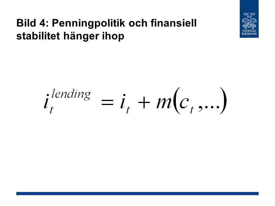 Bild 4: Penningpolitik och finansiell stabilitet hänger ihop