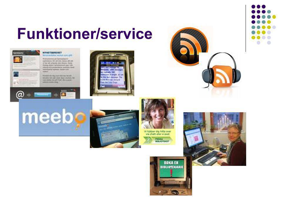 Funktioner/service