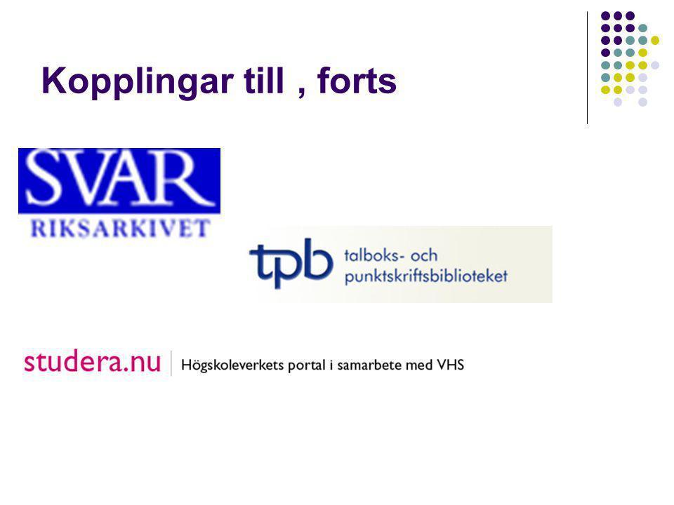 Vision Skapa en gemensam ingång till Sveriges samlade biblioteks- resurser, tillgänglig oberoende av tid och rum Därigenom även skapa en gemensam ingång till globala biblioteksresurser