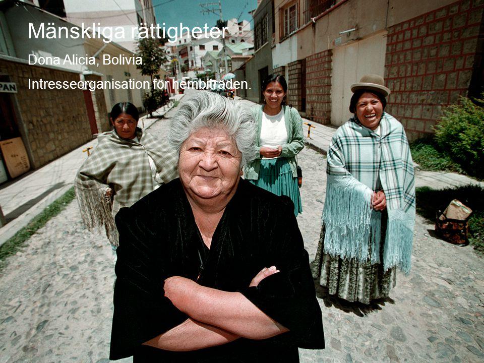 Mänskliga rättigheter Dona Alicia, intresserorganisation för hembiträden © Diakonia 11 Mänskliga rättigheter Dona Alicia, Bolivia.