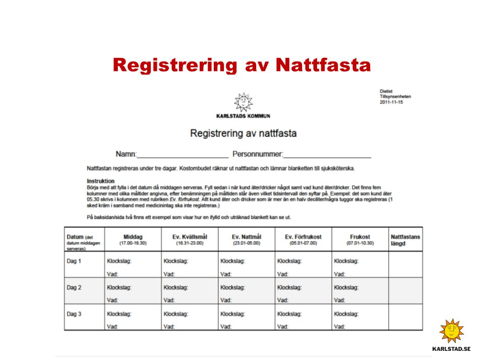 Registrering av Nattfasta