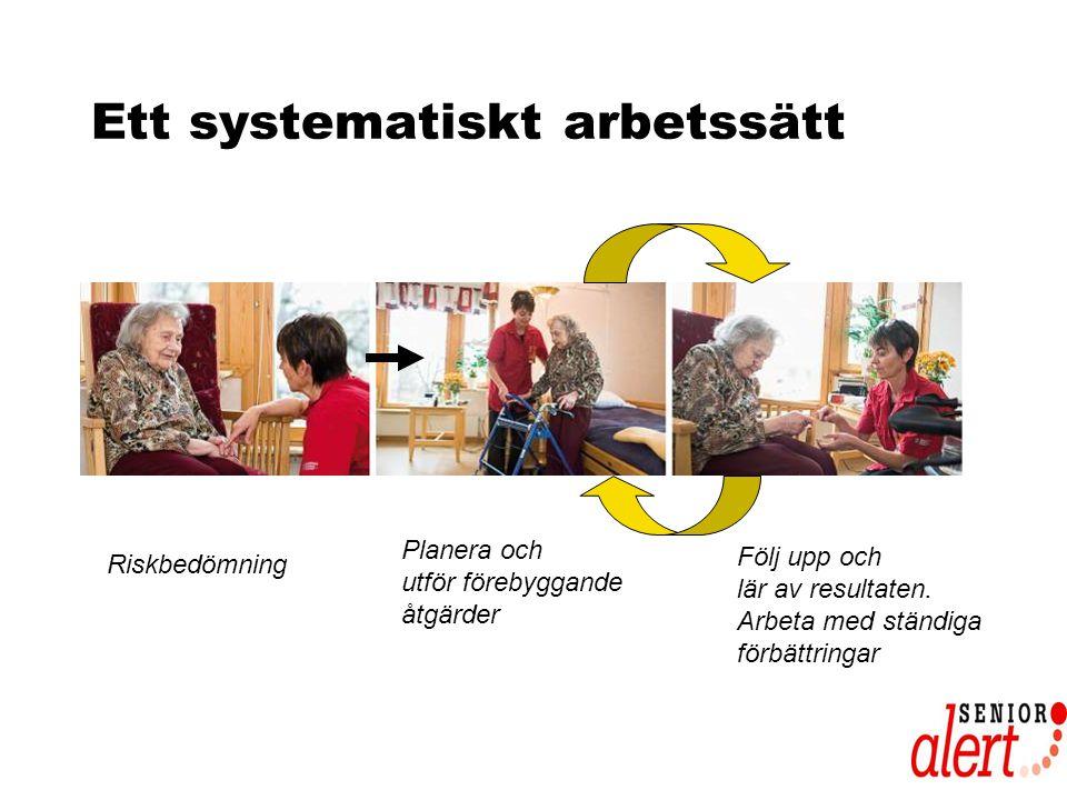 Ett systematiskt arbetssätt Riskbedömning Planera och utför förebyggande åtgärder Följ upp och lär av resultaten.
