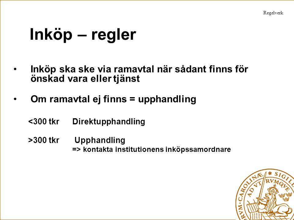 Inköp – vägledning/information Ny hemsida är under utveckling –Info kommer på Lupins välkomstsida.