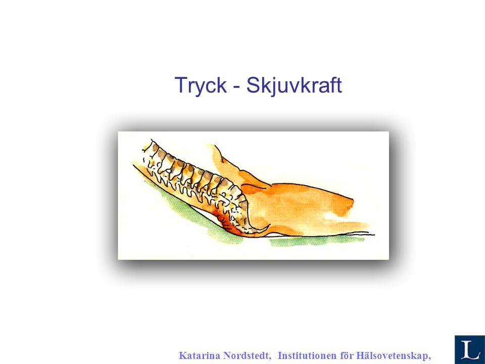 Katarina Nordstedt, Institutionen för Hälsovetenskap, 2007 K Tryck - Skjuvkraft