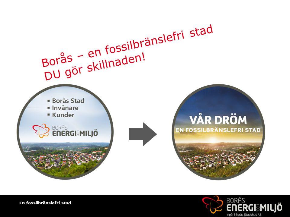 En fossilbränslefri stad Borås – en fossilbränslefri stad DU gör skillnaden!