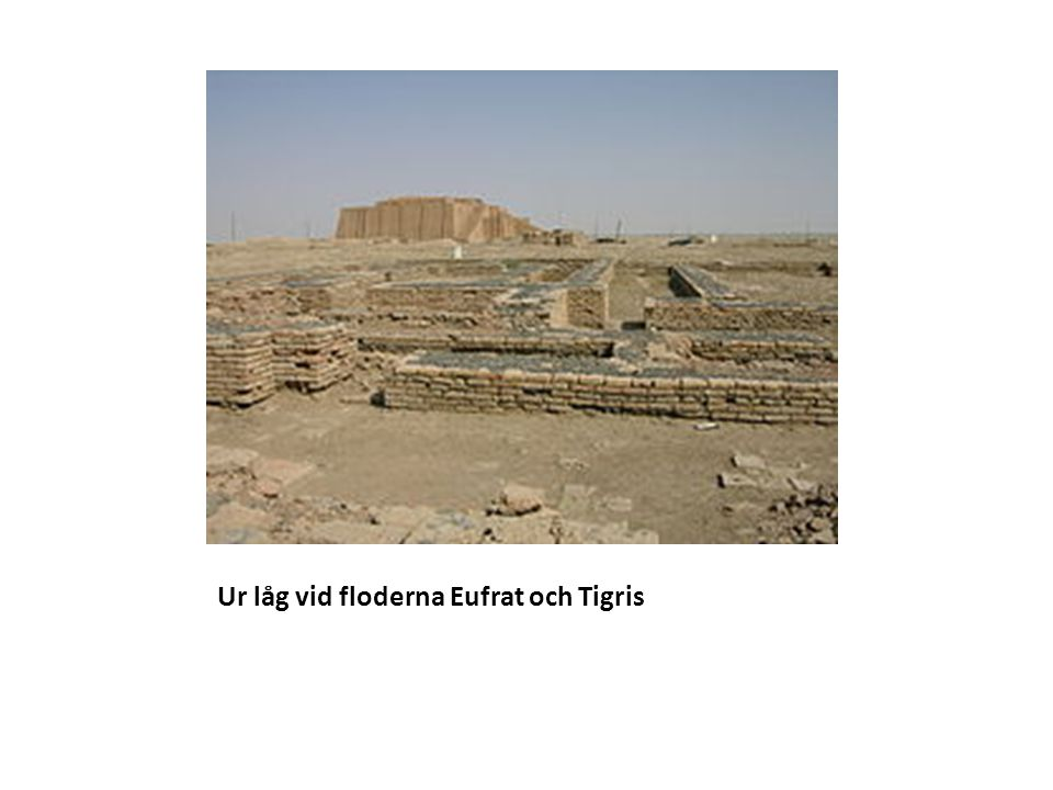 Nu behövs det kungar En stad som Uruk hade cirka 50 000 invånare.