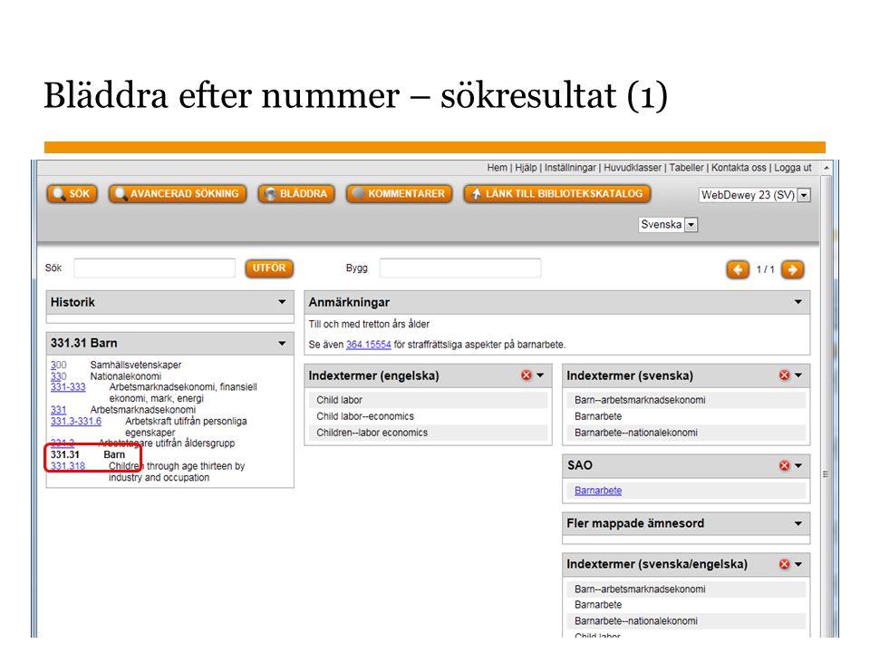 Sidnummer Söka efter nummer – sökresultat (2) 2014-09-25 22