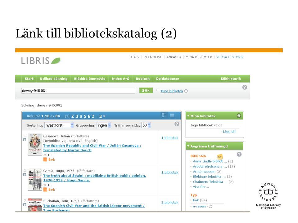 Sidnummer 2014-09-25 37 Byggda nummer Tas med i WebDewey för att särskilda anmärkningar behövs, och för att underlätta för katalogisatörer