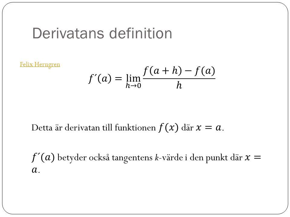 Derivatans definition Felix Herngren