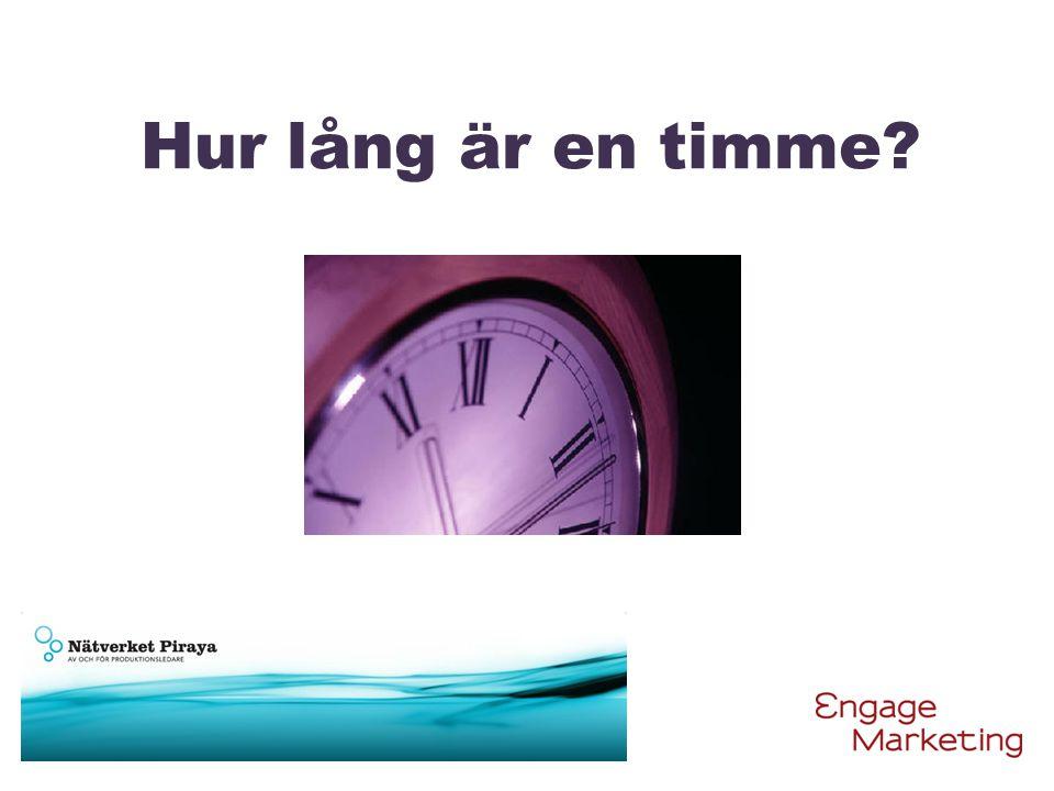 Hur lång är en timme?