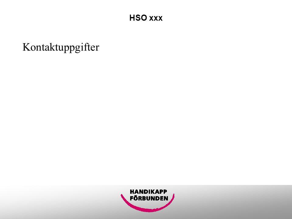 HSO xxx Kontaktuppgifter