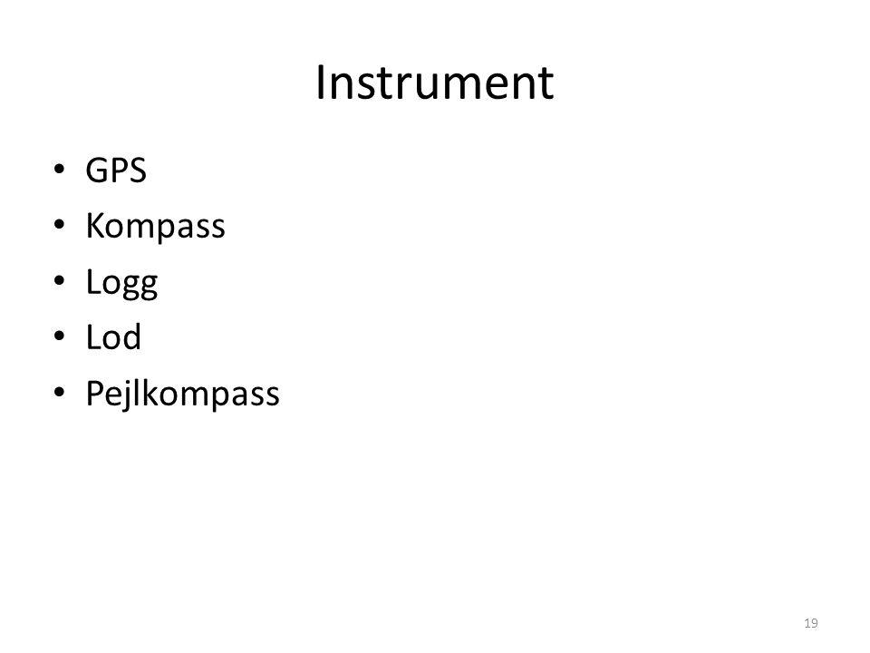 Instrument GPS Kompass Logg Lod Pejlkompass 19