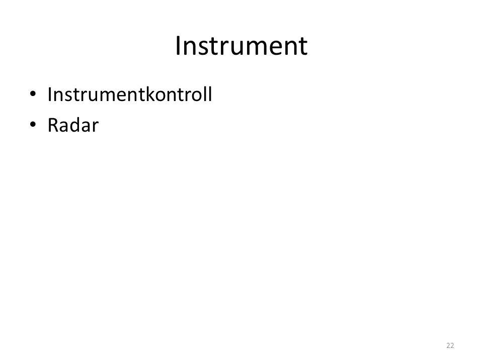 Instrument Instrumentkontroll Radar 22