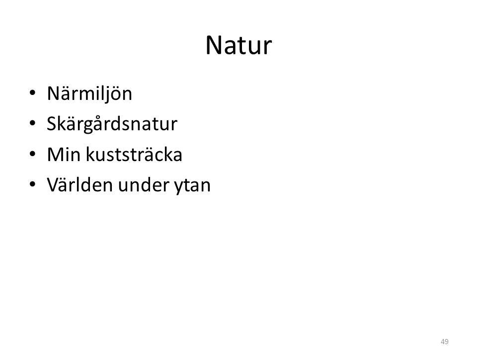 Natur Närmiljön Skärgårdsnatur Min kuststräcka Världen under ytan 49