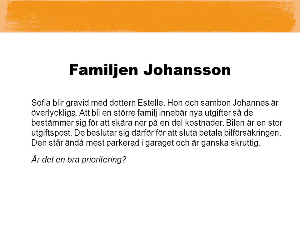 Familjen Johansson Sofia blir gravid med dottern Estelle.
