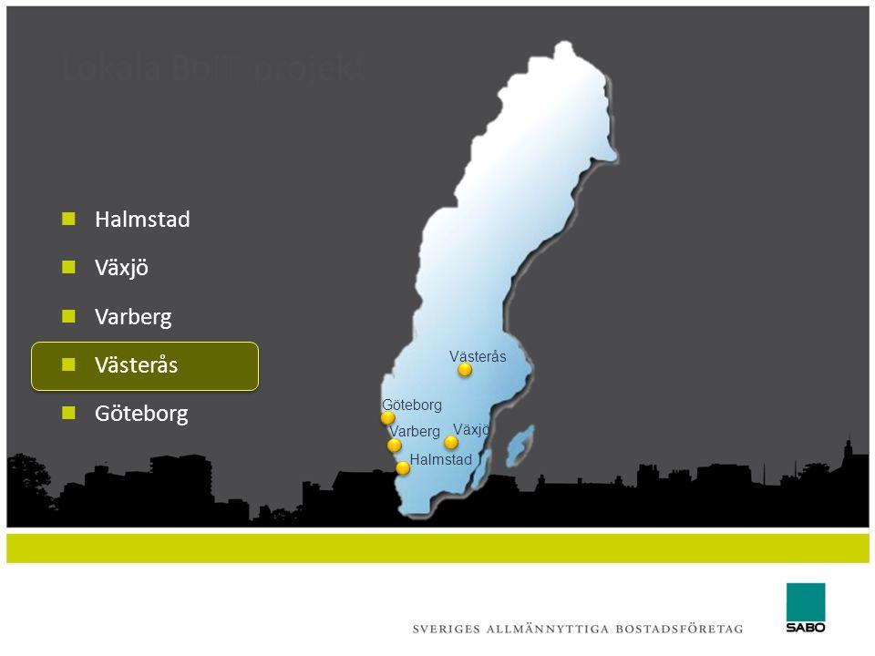 Lokala BoIT-projekt Halmstad Växjö Varberg Västerås Göteborg Västerås Göteborg Växjö Varberg Halmstad