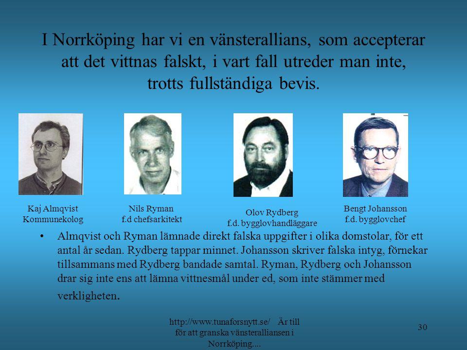 Synd att Du inte kunde komma. hälsar Klas Vi får försöka utan Dig!!!!! http://www.tunaforsnytt.se/ Är till för att granska vänsteralliansen i Norrköpi