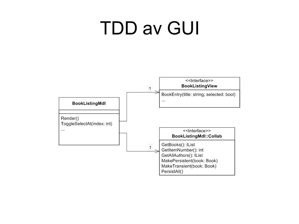 TDD av GUI