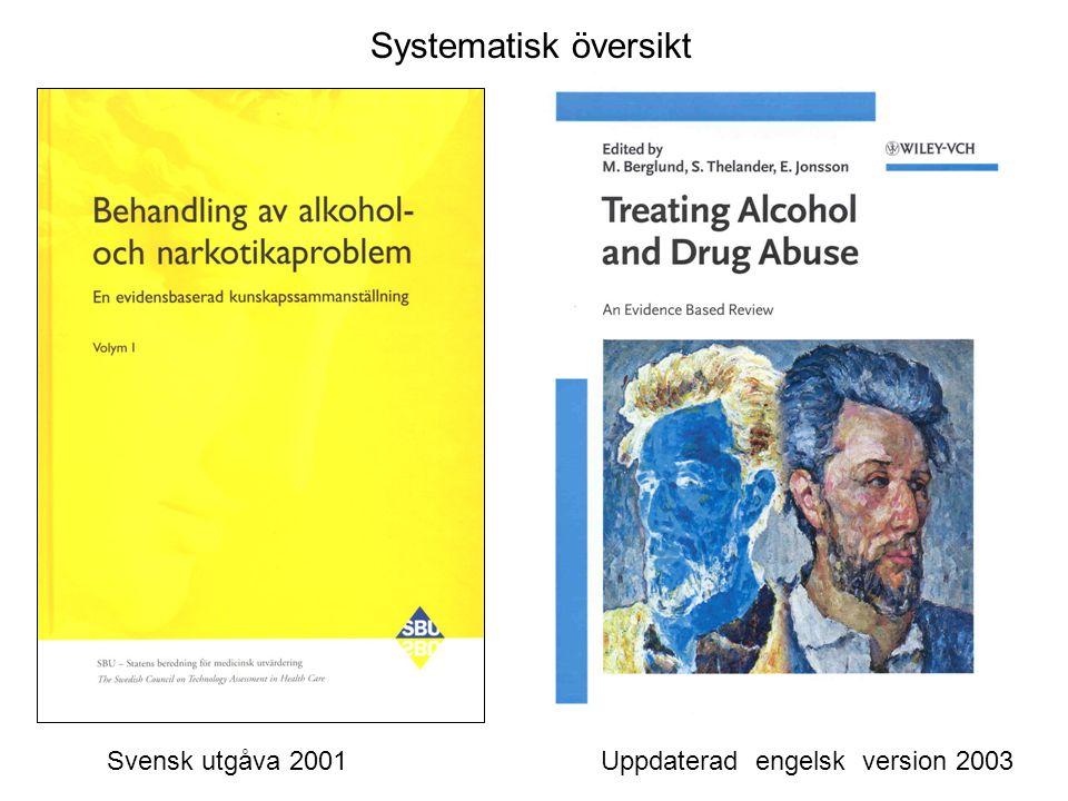 Svensk utgåva 2001 Uppdaterad engelsk version 2003 Systematisk översikt